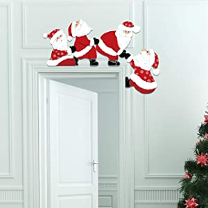 GEGEWOO Christmas Santa Door Frames Decoration Lovely and Interesting Christmas Decor for Doors Windows and Walls Xmas Party Decoration Door DIY Craft Supplies