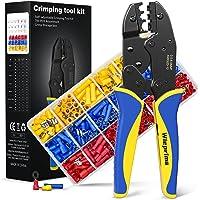 Crimptång kabelskor set, Wieprima pressverktyg kit med 700 trådhylsor set för oisolerade och isolerade kabeländhylsor…