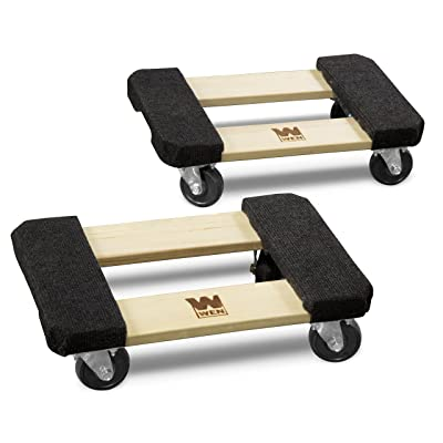 WEN 721218 1320-Pound Capacity 12-by-18-Inch Hardwood Furniture Dolly, 2-Pack: Home Improvement