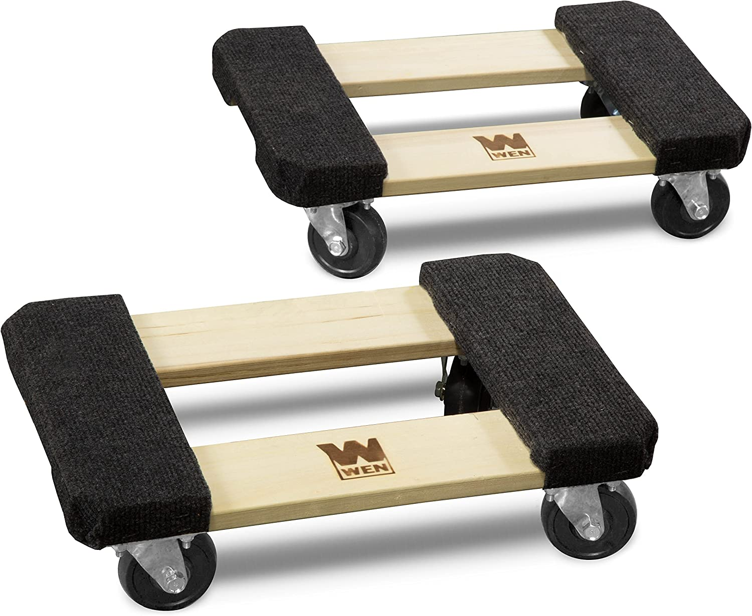 WEN 721218 1320-Pound Capacity 12-by-18-Inch Hardwood Furniture Dolly, 2-Pack