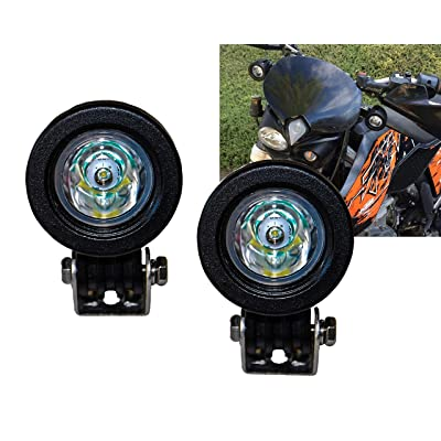 OZ-USA 1 Pair Mini Trail Lights LED CREE Spot Motorcycle Offroad Dual Sport: Automotive