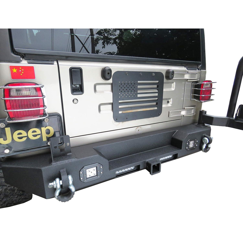 Vijay Hunter 1997-2006 Jeep Wrangler TJ US Flag Tailgate Vent-Plate Cover//Spare Tire Carrier Delete