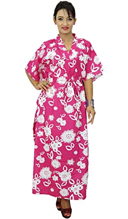 c1f3d644ebeff Women New Indian Cotton Kaftan Boho Hippy Dress Caftan Beach Cover Up   Amazon.co.uk  Clothing