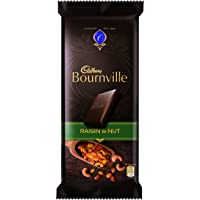 Cadbury Bournville Dark Chocolate Bar with Raisin and Nuts, 80g