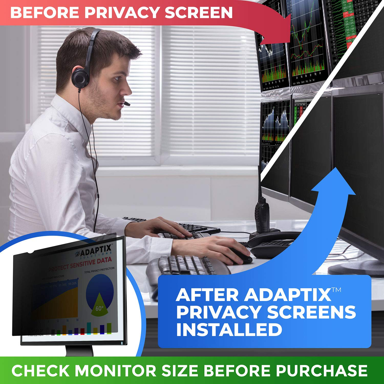 Adaptix 21.5 Inch Privacy Screen Filter (Diagonally Measured) 16:9 Aspect Ratio for Widescreen Computer LCD & LED Monitors - Anti Glare (APS21.5W) by Adaptix (Image #7)