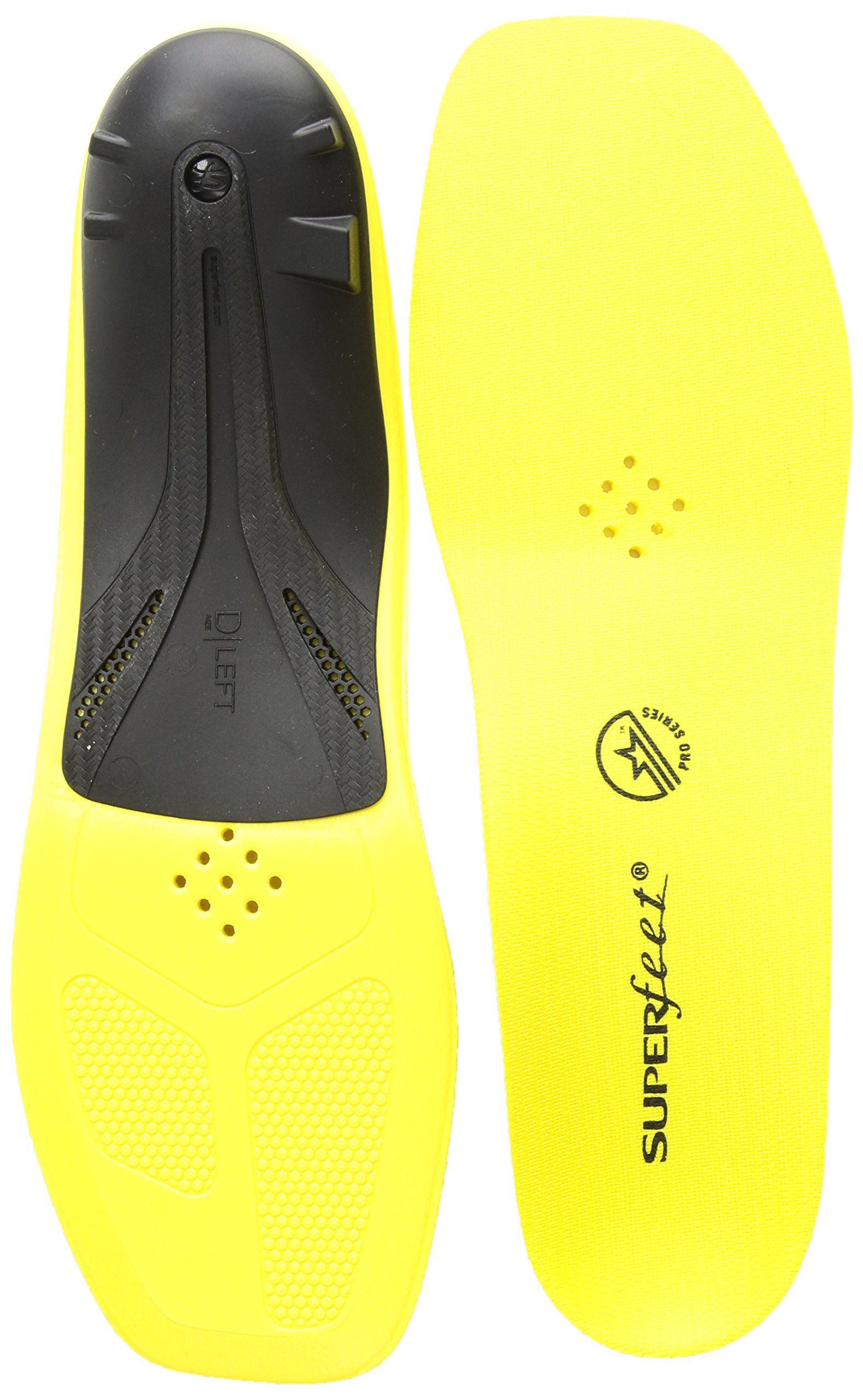 Superfeet, CARBON Pro Hockey, Carbon Fiber Professional Performance Hockey Skate Insoles, Unisex, Blaze Yellow, Large E: Skate 9-10, US
