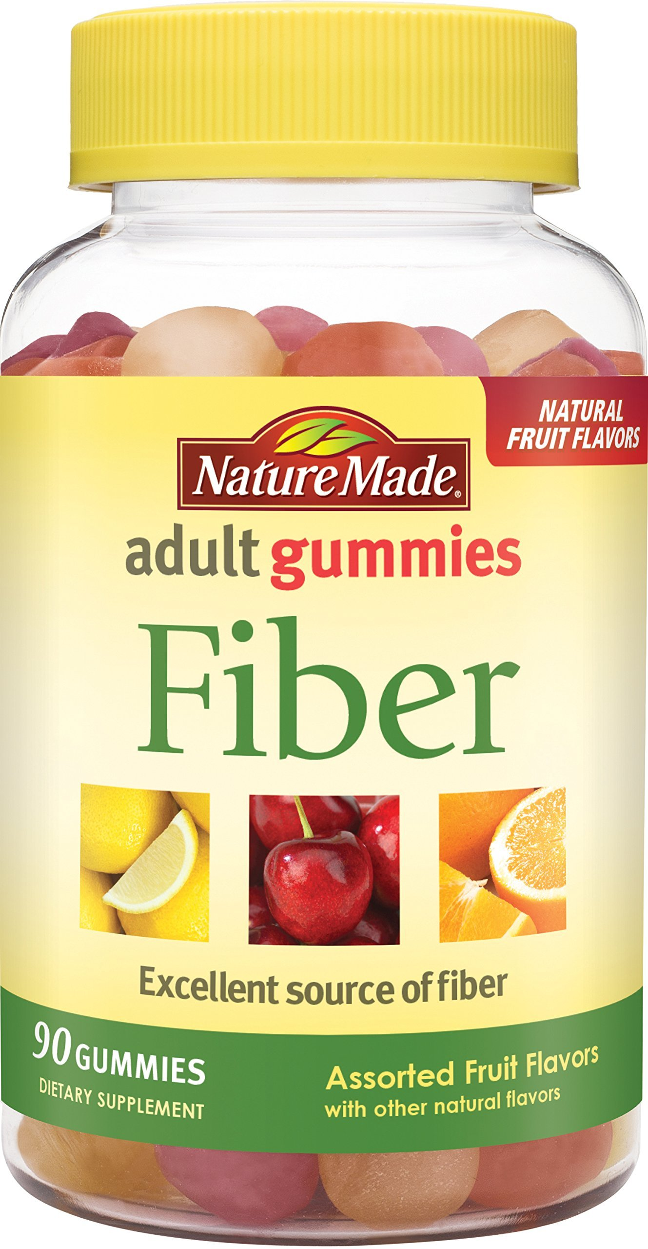Nature Made Fiber Adult Gummies 90 Count w. 6 g of Inulin Dietary Fiber per serving