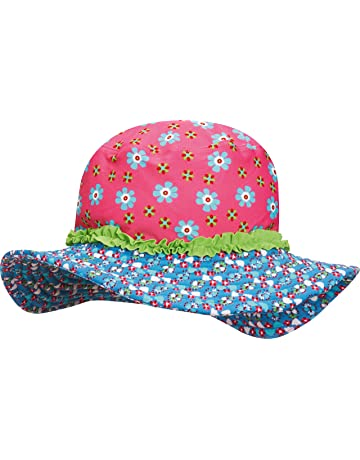 0bb00d9d Playshoes Girl's UV Sun Protection Sun Swim Cap Flowers Hat