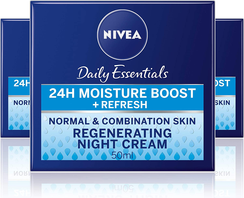 Nivea visage - Crema de noche regeneradora, pack de 3 (3x 50 ml ...