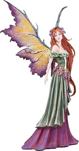Ebros Amy Brown Large Summer Fairy Queen with Flower Adornment Statue Collector Faerie FAE Magic Figurine 18.5 H Fantasy Garden Fairies Pixies Nymphs Gaia Earth Elemental FAE Magic Decor Statue