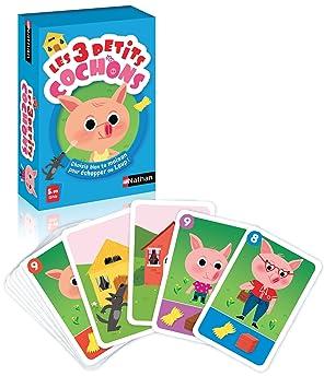 Nathan 31426 Les 3 Petits Cochons - Juego de Cartas [Idioma ...