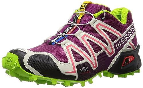 32faa86bee9c Salomon Speedcross 3 Women Trail Laufschuhe Mystic Purple-Light Grey-Granny  Green - 39 1 3  Amazon.es  Deportes y aire libre