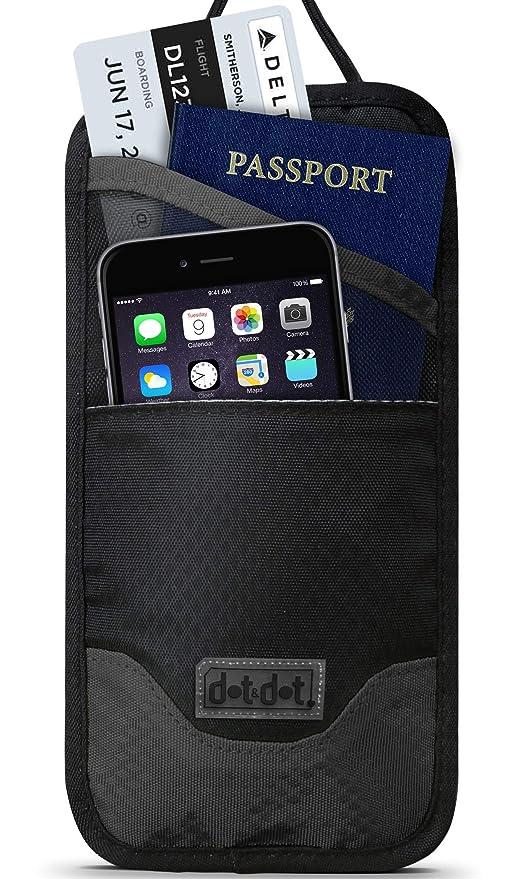 d2cf9435dcb4 Travel Neck Wallet Passport Holder - Rfid Blocking Boarding Pass, Travel  Document Organizer for Men and Women - Digital Pickpocket Proof Pouch