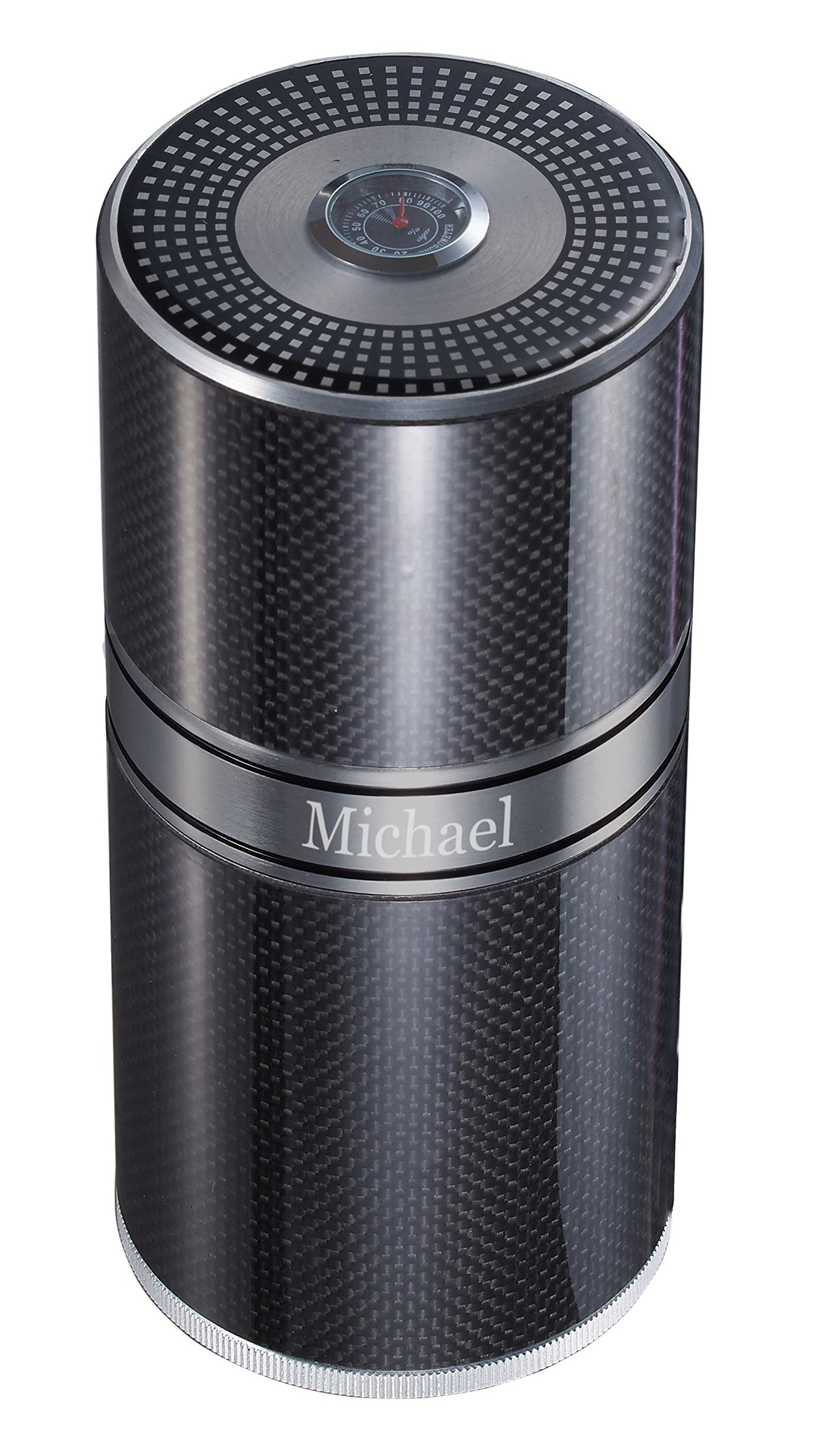 Personalized Aluminum Carbon Fiber Cigar Travel Tube 9x20cm