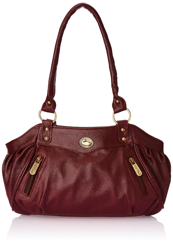 Fostelo Women's Maroon Leather Handbag FSB-101