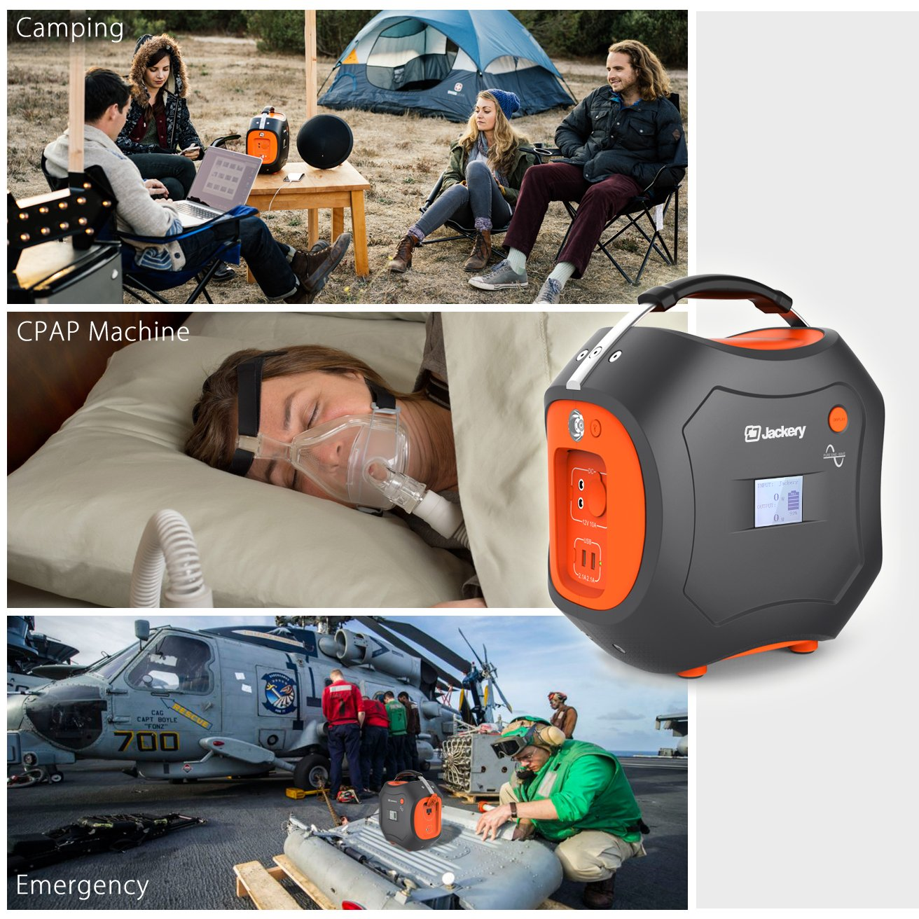 500Wh Portable Generator, Jackery Explorer / Power Pro Rechargeable Lithium Battery Pack Quiet Generator with 110V / 300W AC Outlet, 12V Car, USB Output Clean Off-grid Emergency Power Pack for Camping by Jackery (Image #6)