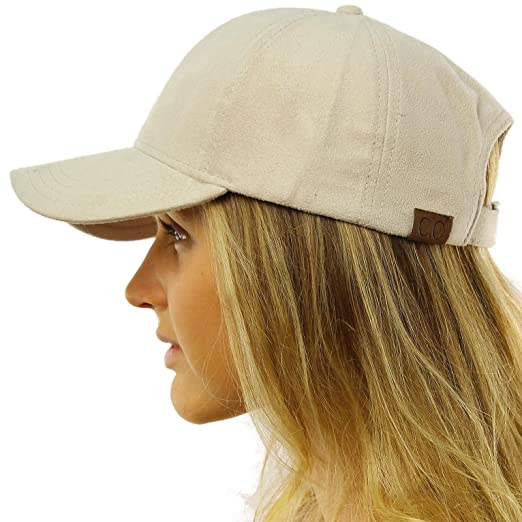 1b1e081bc30 Everyday Faux Suede 6 Panel Solid Suede Baseball Adjustable Cap Hat Beige