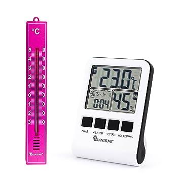 Digital máx – mínimo – Termómetro para interior y exterior indicador de temperatura. Antena exterior