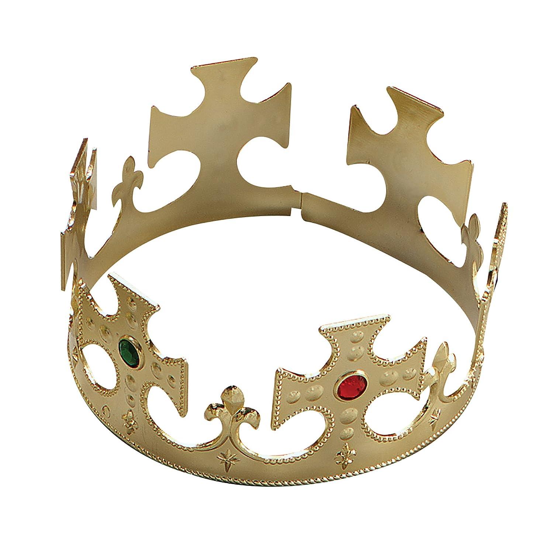 Gold Plastic Kings Crown Fancy Dress Accessory  Bristol Novelty   Amazon.co.uk  Toys   Games 9e241d36ac17