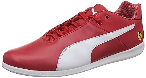 4fc06f12dcc3 Puma Men s Sf Future Cat Casual Rosso Corse and White Leather Sneakers - 11  UK