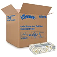 Kleenex Professional Facial Tissue for Business (03076), Flat Tissue Boxes, 12 Boxes...