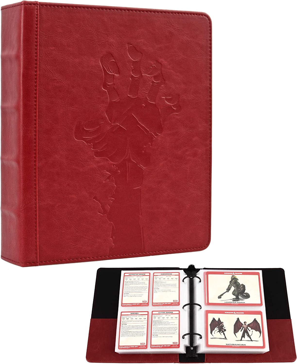 Forged Dice Co Curiosities Cache Monster Card & Spellcard Organizer Binder with Pages (Rise the Dead Edition) Spellbook Cards Holder for Spell & Monster Cards - Fits D&D MTG Magic Pokemon Yugioh Cards