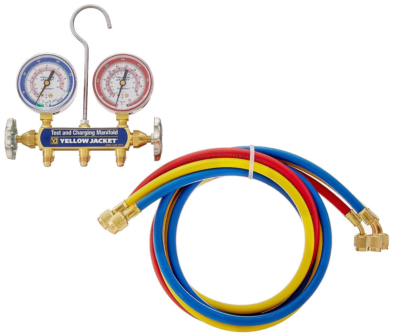 bar//psi Yellow Jacket 41709 Series 41 Manifolds with 2-1//2 Gauge 60 Plus II Standard Fittings R-410A 60 Plus II Standard Fittings Fotronic Corporation
