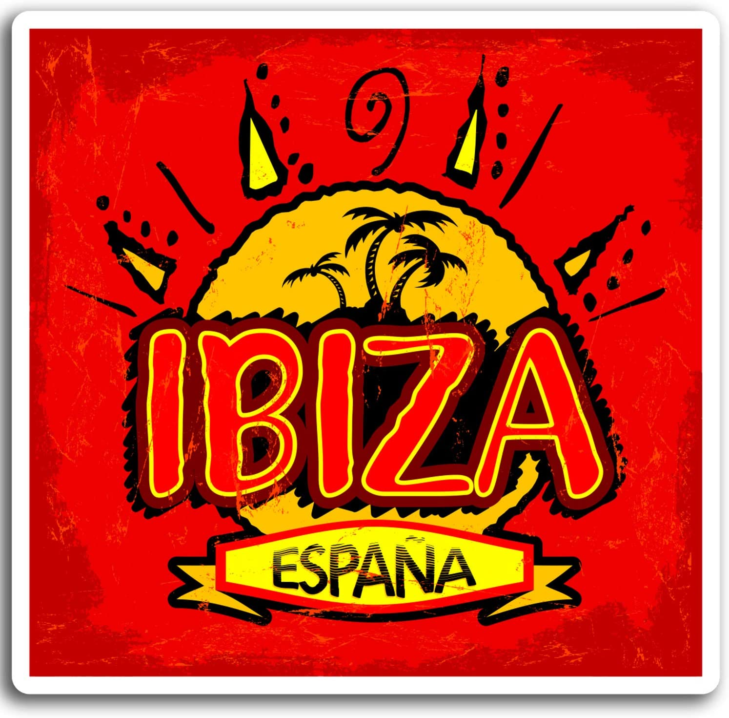 2 x 10 cm Ibiza España pegatinas de vinilo - Viajes Sun Etiqueta ...