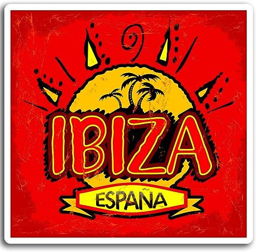 2 x 10 cm Ibiza España pegatinas de vinilo - Viajes Sun Etiqueta de equipaje portátil # 17030 (10 cm de ancho): Amazon.es: Hogar