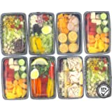 8 Pack - SimpleHouseware Reusable Food-Grade Meal Prep Food Storage Container 1 Compartment, 28 Ounces