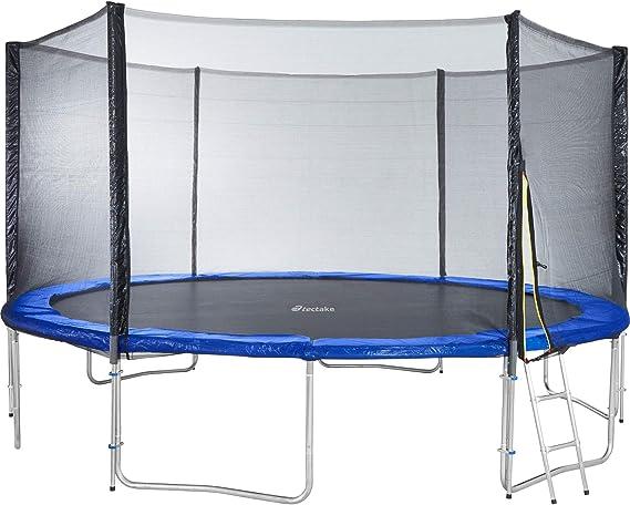 TecTake Cama elástica trampolín para Jardin | con Red de Seguridad y Escalera | TÜV Rheinland GS certificación - Varias tamaños - (Ø 457 cm | No. 402795): Amazon.es: Deportes y aire libre