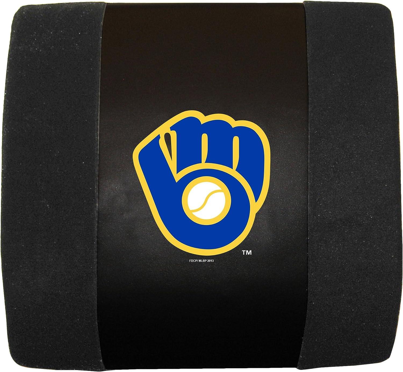 Black Fremont Die MLB Milwaukee Brewers Lumbar Support Cushion