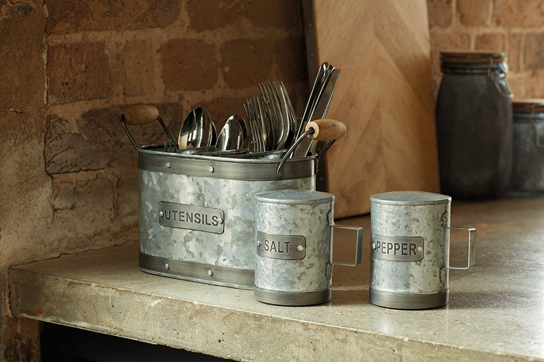Gris//Marron Kitchen Craft Pot /à ustensiles Taille Unique
