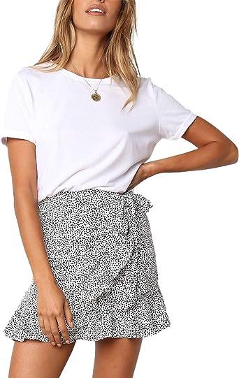 AU 8 Stretchy Jean Mini Shorts w White Polka Dots