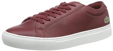 32523d4f3f Lacoste L.12.12 116 1 Cam, Chaussures Bateau Homme, Rouge (Ftwwht/