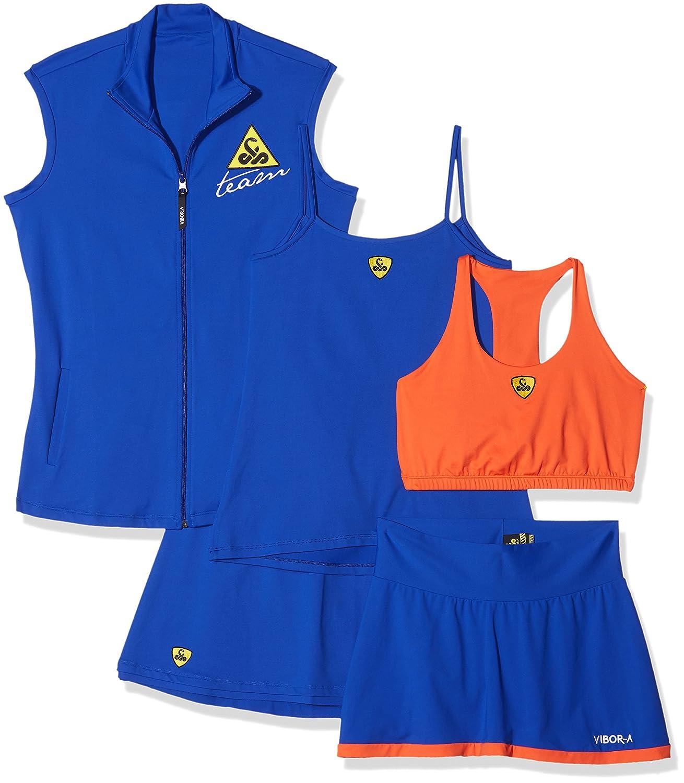 VIBOR-A Look 6 Conjunto de tenis, Mujer, Multicolor (Azul ...