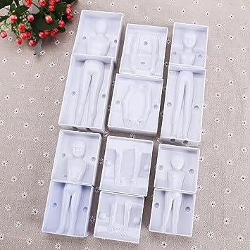 12 tlg señora Mann decorativas de niñas moldes para galletas con motivos navideños cuerpo pastas 3D de pastel de boda decoración para tartas: Amazon.es: ...