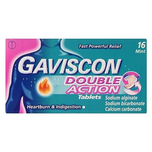 Gaviscon Double Action Mint, 16 Chewable Tablets