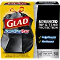 50-Count Glad ForceFlexPlus Drawstring Large 30 Gal Trash Bags