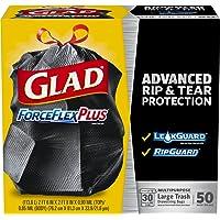 50-Count Glad ForceFlexPlus Drawstring Large 30 Gal Trash Bags