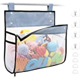 Bath Toy Organizer Multiple Ways to Hang, Extra Large Opening Bathroom Toy Holder, Bottom Zipper Bathtub Toy Storage Bag…