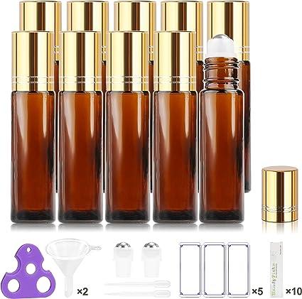 Botellas Roll On para Aceites Esenciales, 10ML, Vacías - Bolita de ...