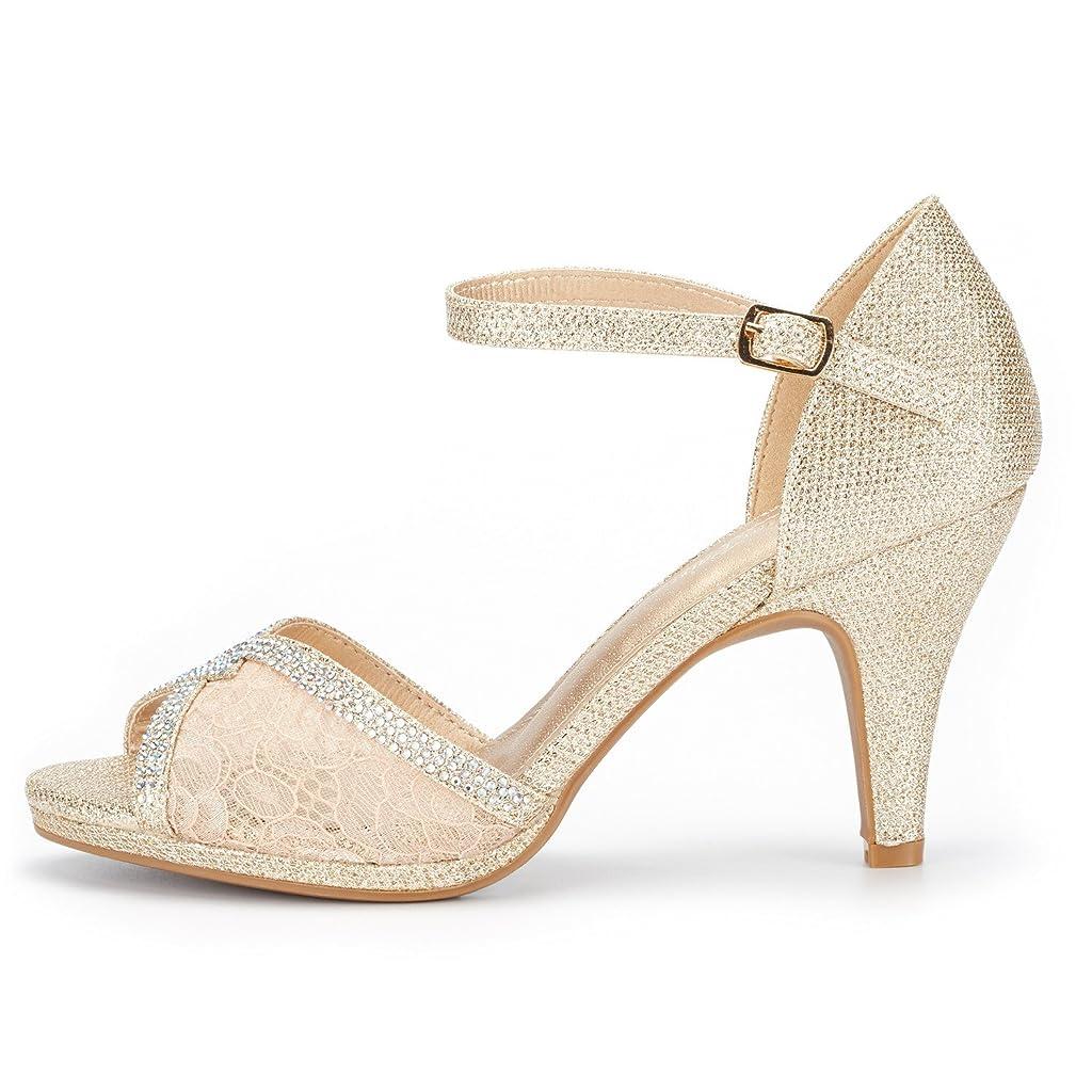 DREAM PAIRS Womens Fiona Fashion Stilettos Open Toe Pump Heeled Sandals
