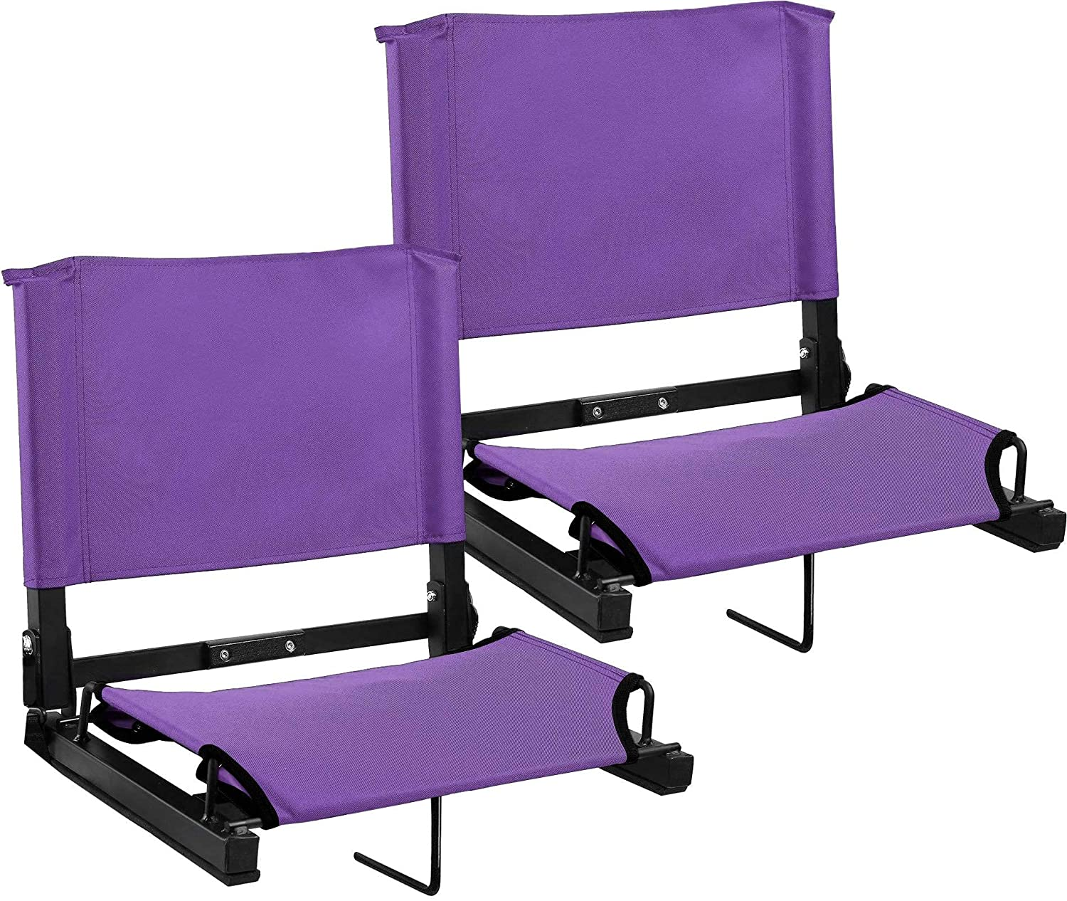 スポーツ無制限Stadium Seat Bleacher Seat  Purple, 2 Pack B07L36S9ML