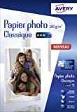 Avery 80 Feuilles de Papier Photo 180g/m² 10x15cm - Impression Jet d'Encre - Brillant - Blanc (C2570) 80 Feuilles de Papier Photo 180g/m² 10 x 15mm - Impression Jet d'Encre - Brillant - Blanc (C2570)