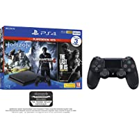 PS4 500GB with 3 PS Hits Game Bundle (PS4) (Exclusive to Amazon.co.uk) + Sony PlayStation DualShock 4 Controller - Black