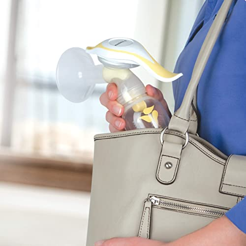 Medela Harmony's manual pump is compact and lightweight for travel occasions