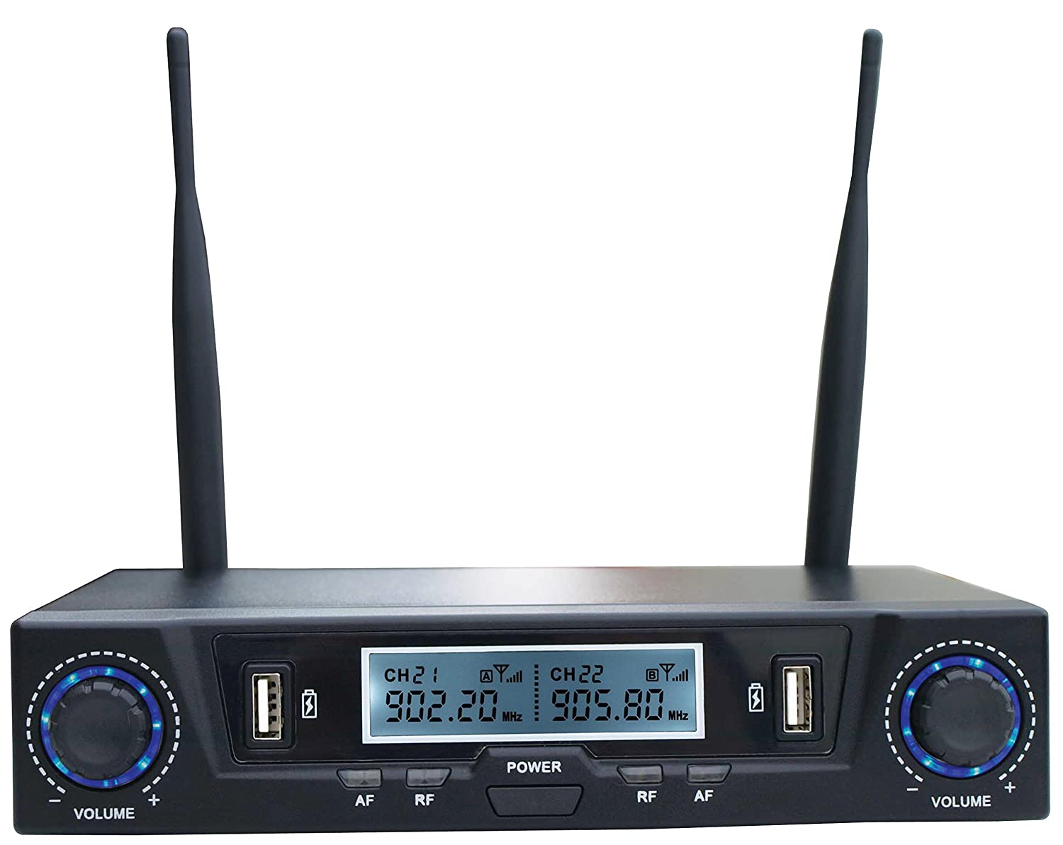 SHS Audio SWUH-500 Rechargeable UHF Professional Wireless Dual Microphone System