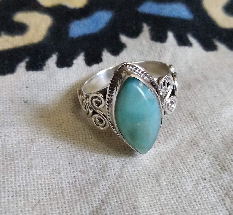 Turquoise Ring,Designer Ring Black Onyx Ring Moonstone Ring Beatiful Ring,Stylish Ring,Larimar Ring 925 Sterling Silver Ring Boho Ring