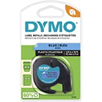 DYMO LetraTag Labeler Plastic Tape 12mm x 4M Blue